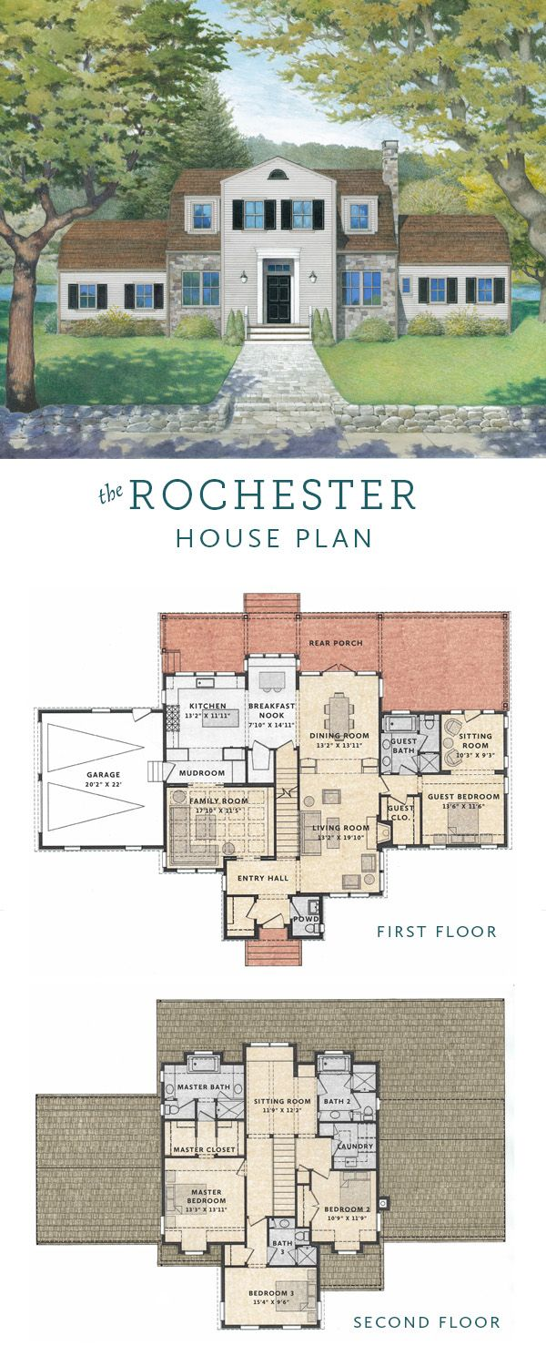 Rochester is a house plan that brings classical architectural ...