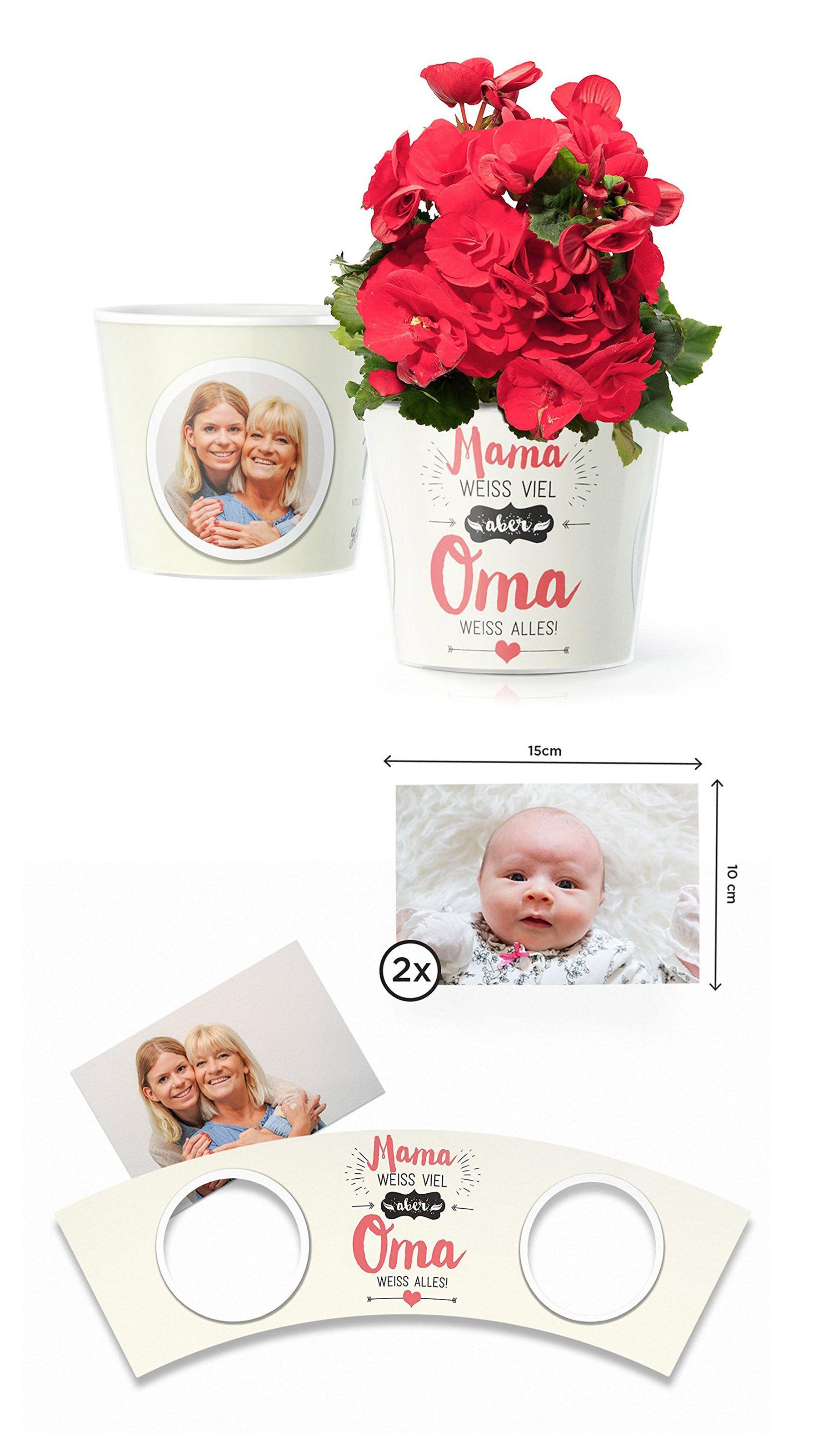 Mama weiss viel aber Oma weiss alles! Blumentopf (ø16cm) | Muttertag ...