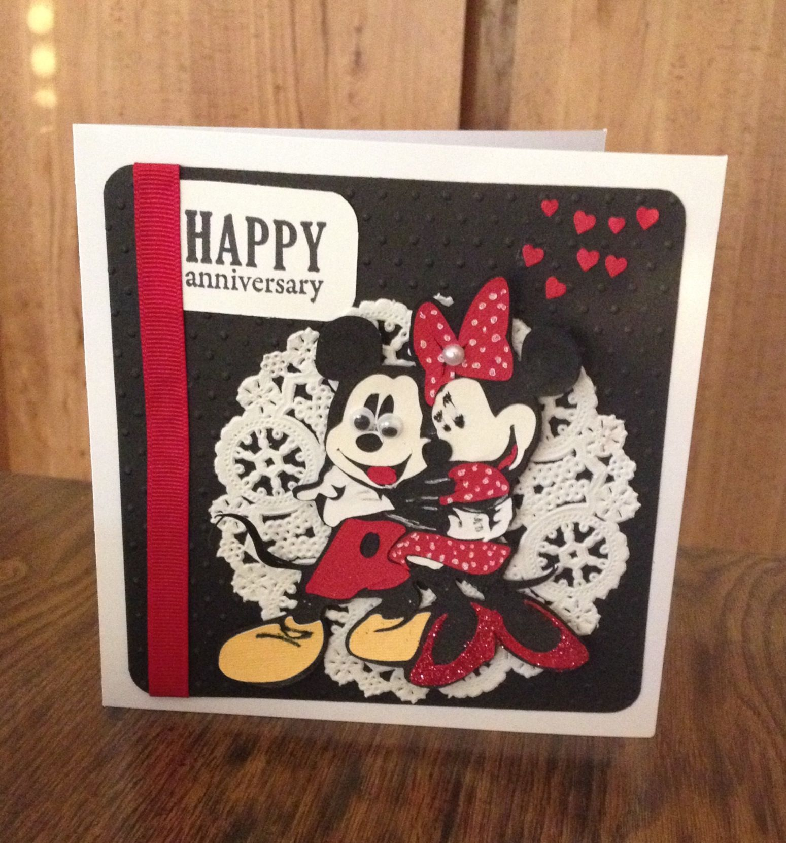 Anniversary Mickey And Minnie Mouse Card Kids Cards Themed Cards Cricut Cards