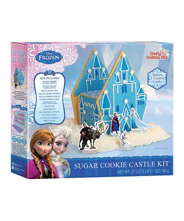 Look at this Frozen Sugar Cookie Castle Kit on #zulily today!