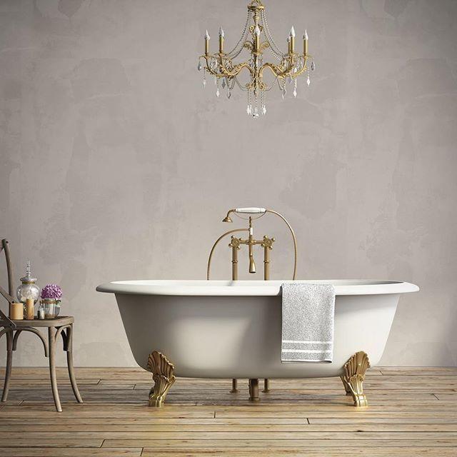 Las bañeras vintage son una pieza que aporta al cuarto de ...
