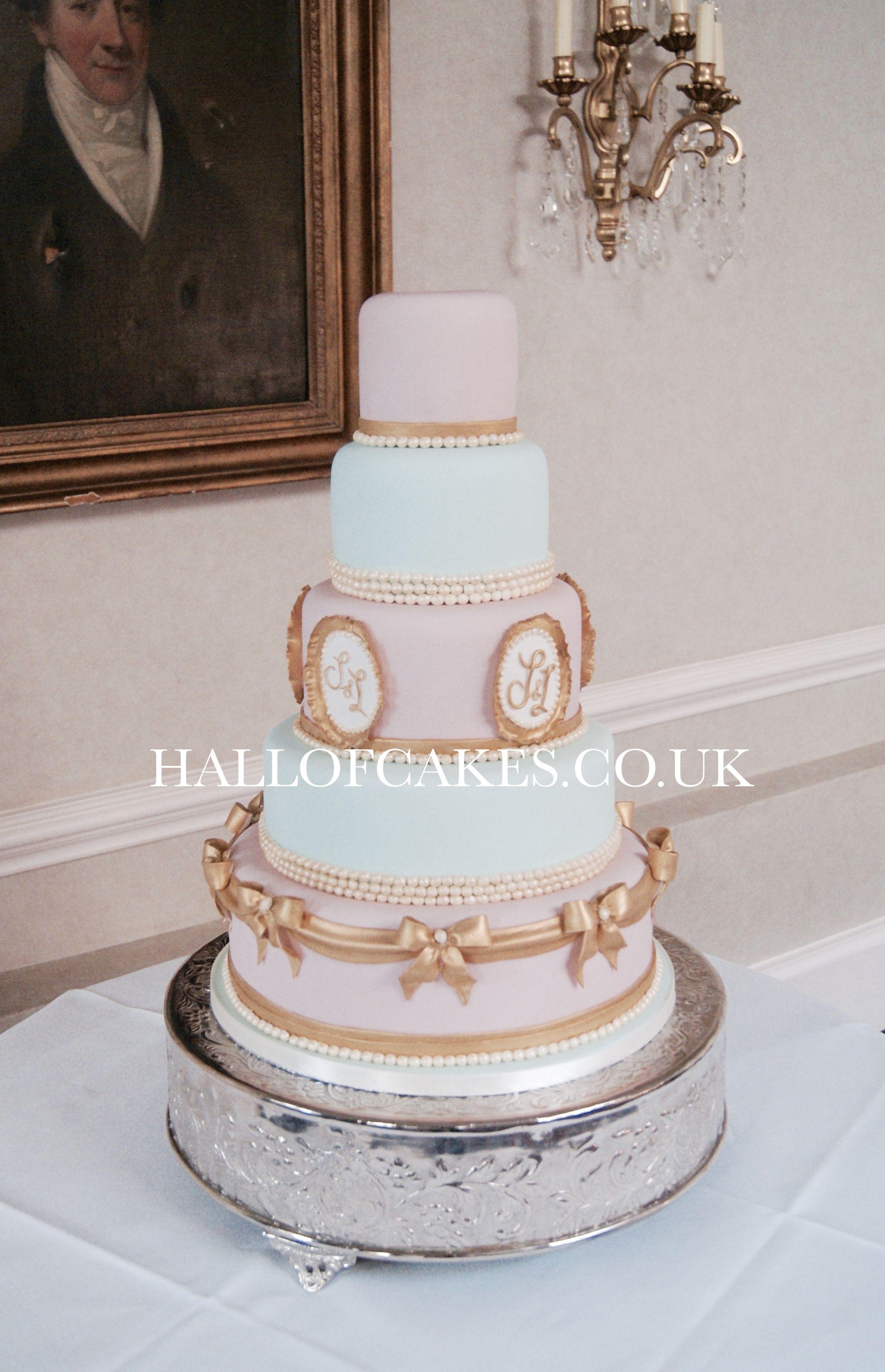 Laduree style wedding cake by hall of cakes wedding cakes