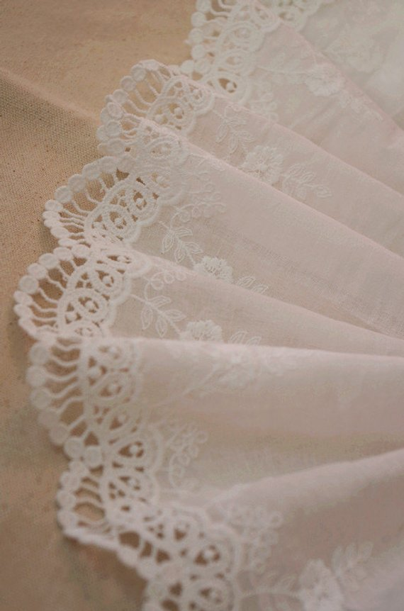 cotton lace trim with scallops