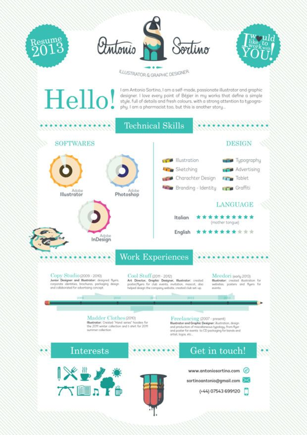 20 Cool Resume \ CV Designs - resume website example