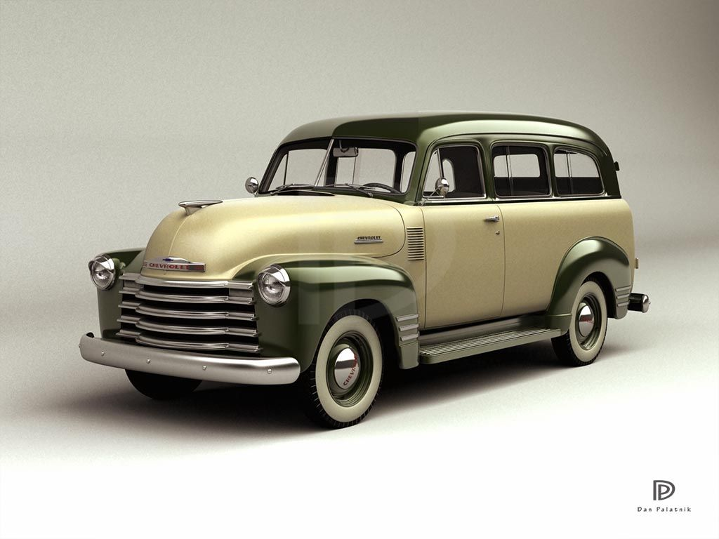 A Garagem Digital De Dan Palatnik The Garage Project 1951 Chevrolet Station Wagon Suburban Panel Van