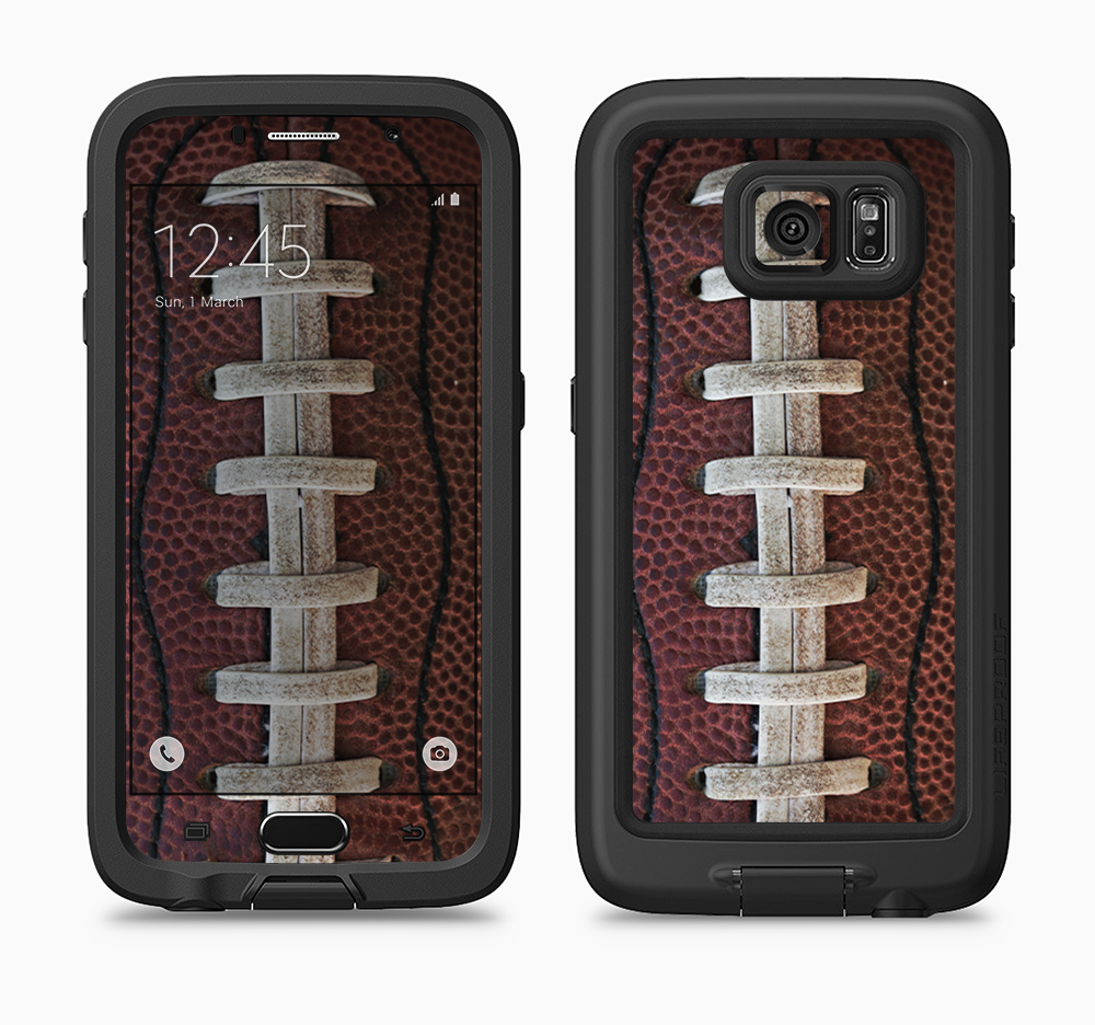 The Football Laced Full Body Samsung Galaxy S6 LifeProof Fre Case Skin Kit