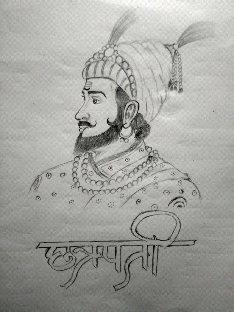 Shivaji maharaj drawing by manish m pardeshi