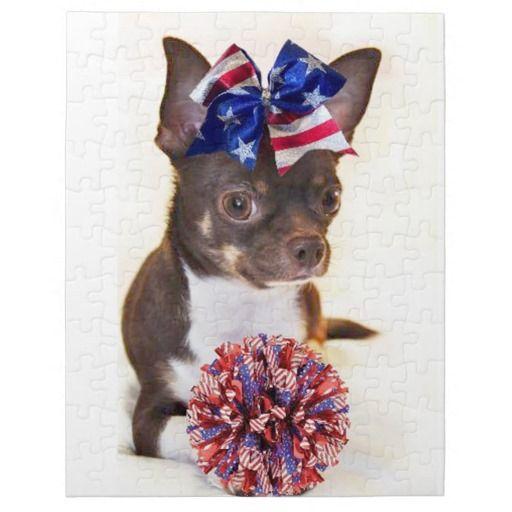 Cheerleader Chihuahua dog Jigsaw Puzzle by ritmoboxer
