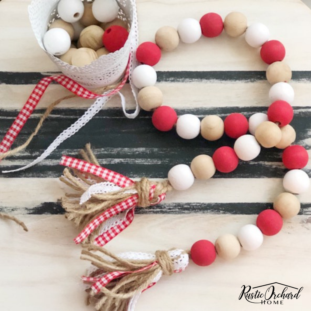 Photo of Tips & Tricks For Making a DIY Wood Bead Garland | Rustic Orchard Home