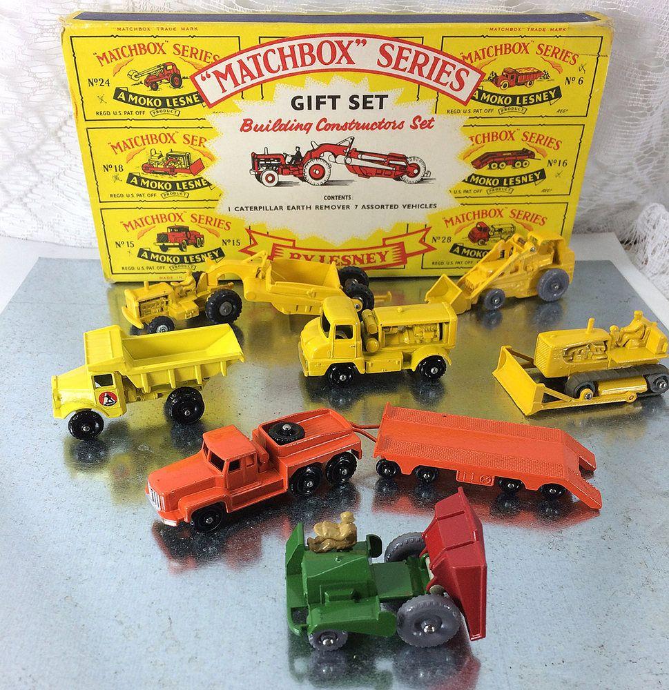 Rare 'matchbox Construction In Vintage G3' Set Original Moko Lesney lFJcK1T