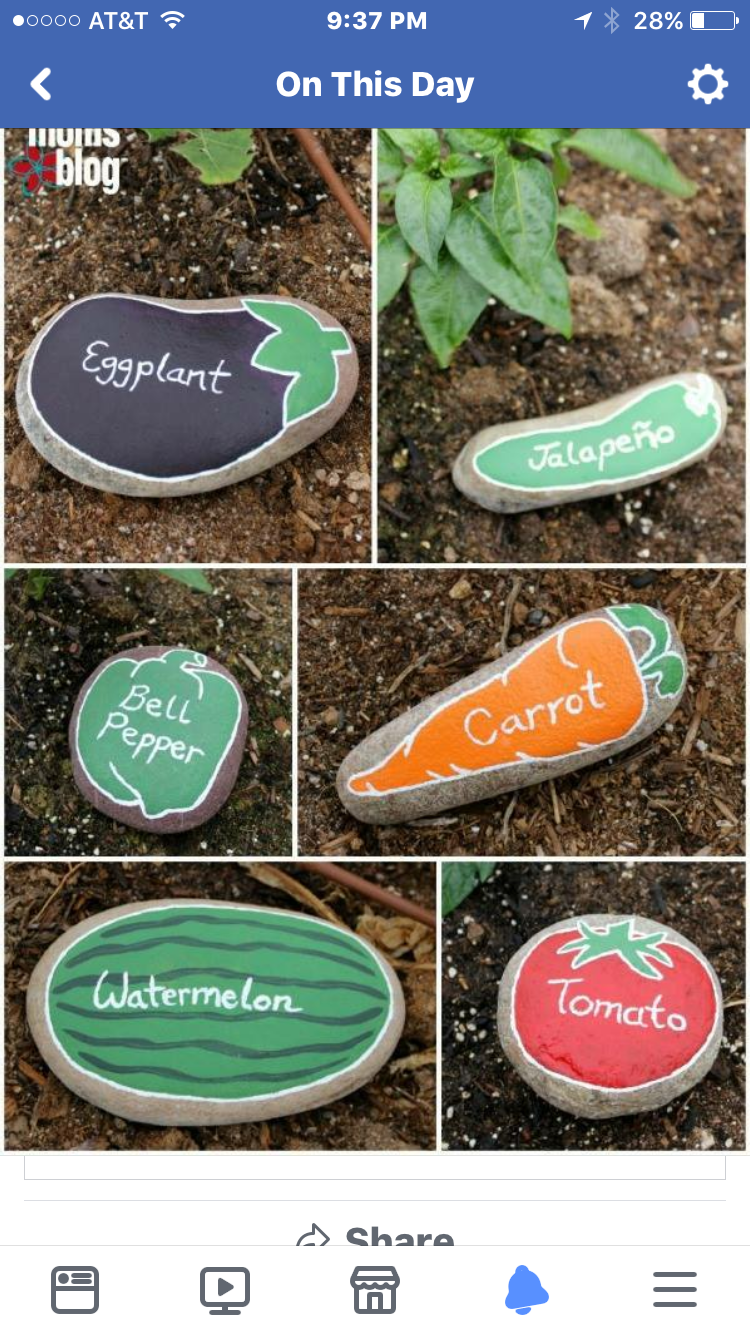 Stone/rock garden markers | I could make that... | Pinterest ...
