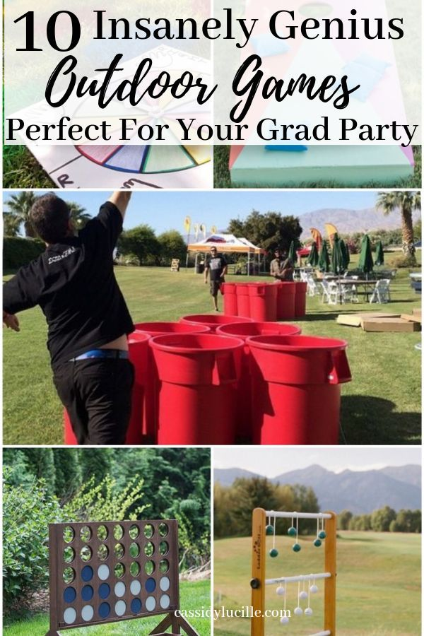 10 Graduation Party Games Perfect for Outdoor Grad Parties #graduationparties