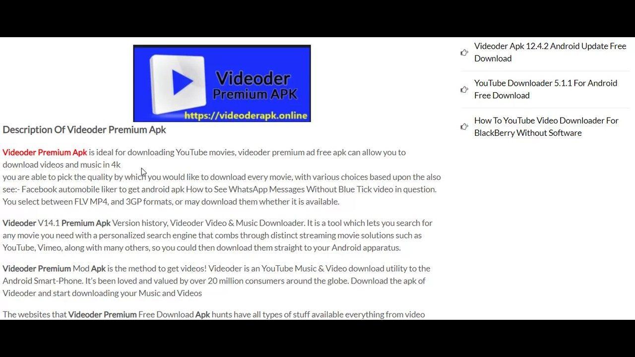 Videoder Best Video & Music Free Downloader V14 1 Premium
