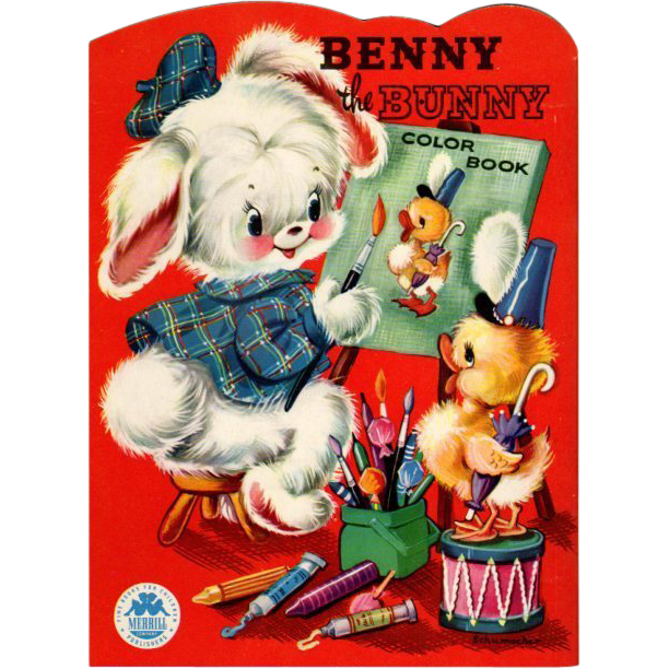 1954 Benny The Bunny Color Book- Merrill | I Love To Color! And ...