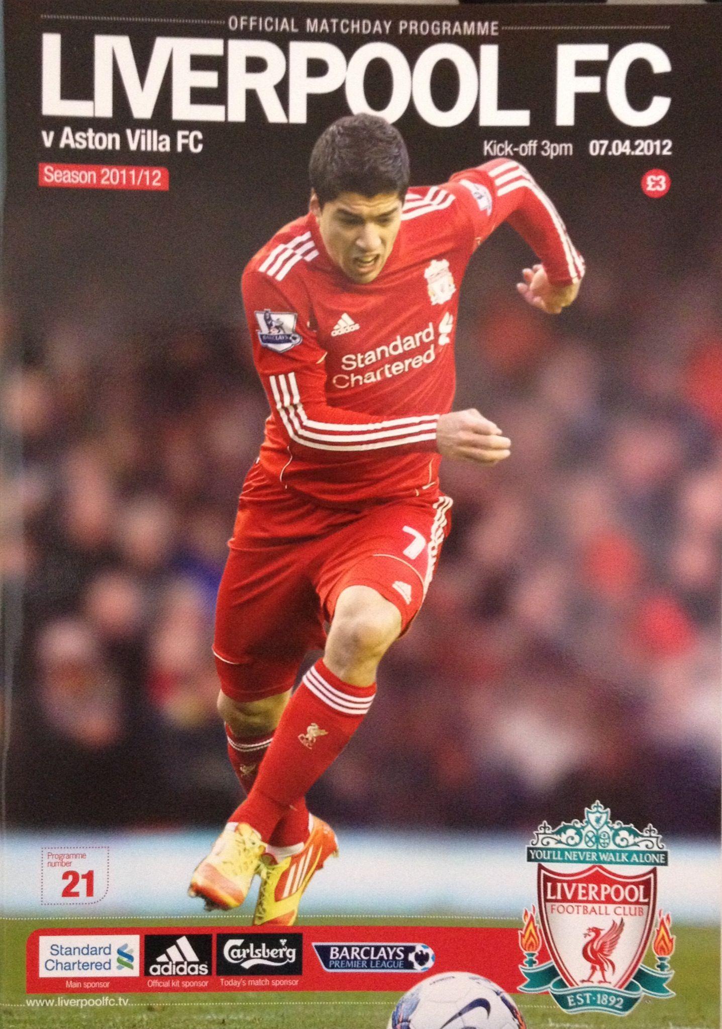 7/4/2012 Liverpool v Aston Villa Football program