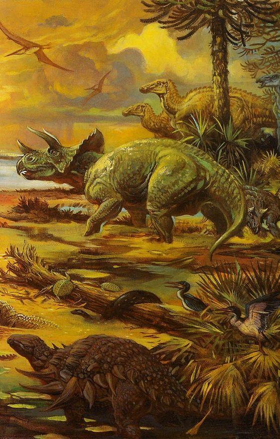Vintage Dinosaur art |...