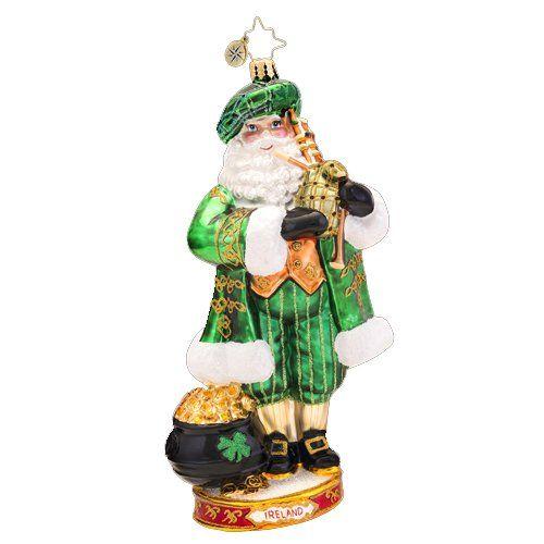 Christopher Radko Glass Celtic Pride Irish Santa Christmas Ornament 1017427 Christmas Ornaments Top Brands Artists Designer Names Ornaments Christmas Ornaments Christopher Radko Ornaments
