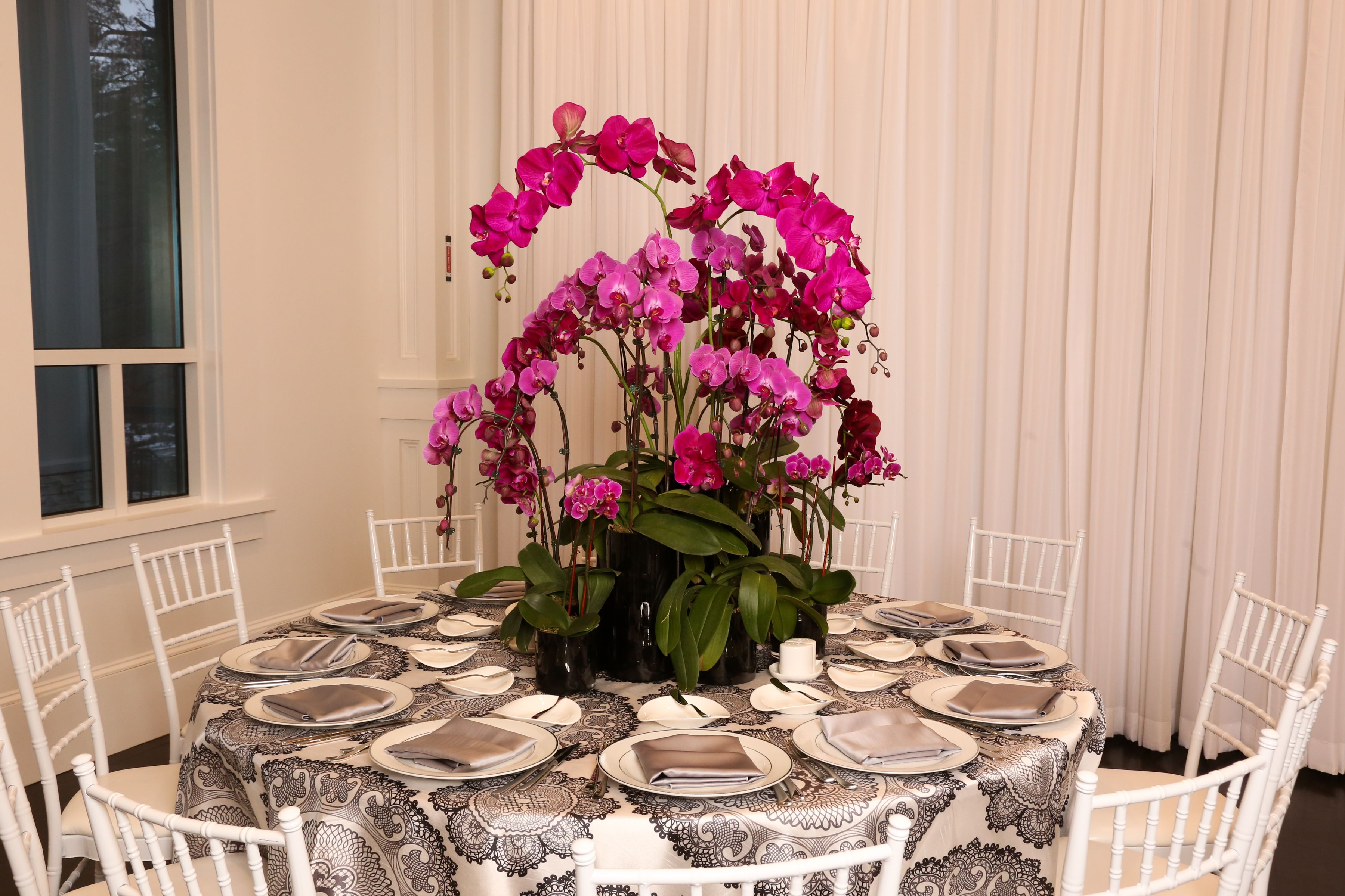 Purple Orchid Centerpiece