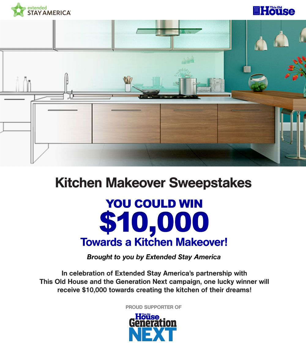 This Old House Extended Stay Kitchen Makeover Sweepstakes | Kitchen ...