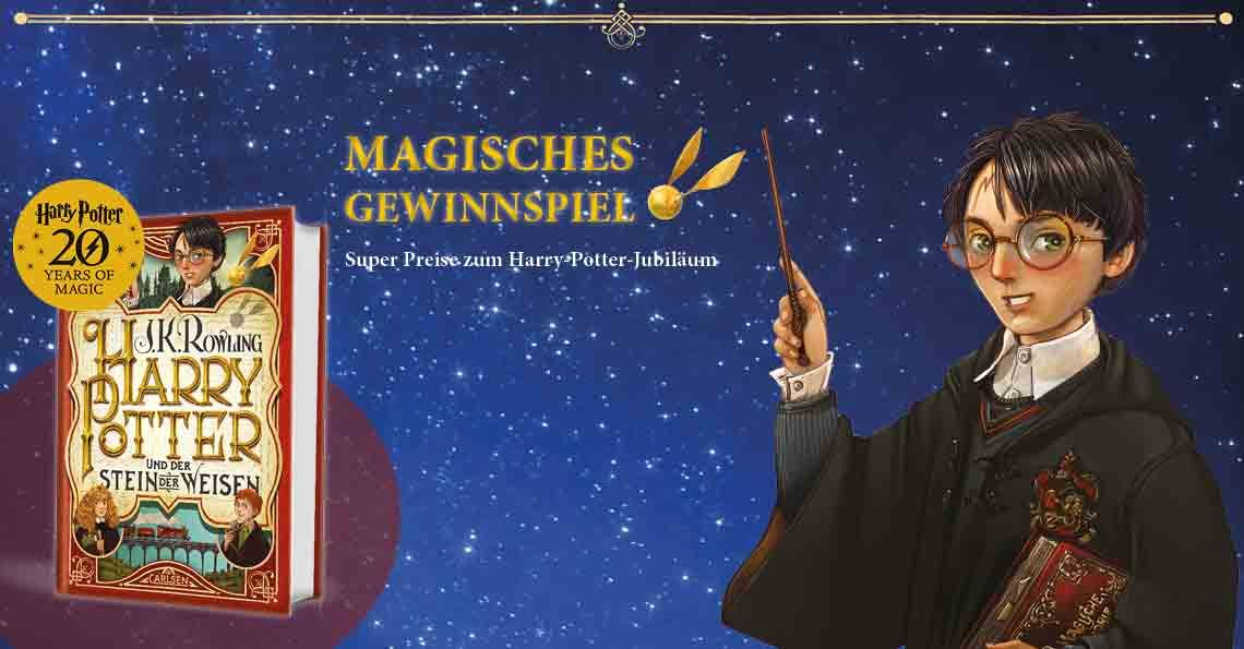 Grosses Gewinnspiel Punktlich Zum Harry Potter Jubilaum Gewinnspiel Harry Potter Spiele