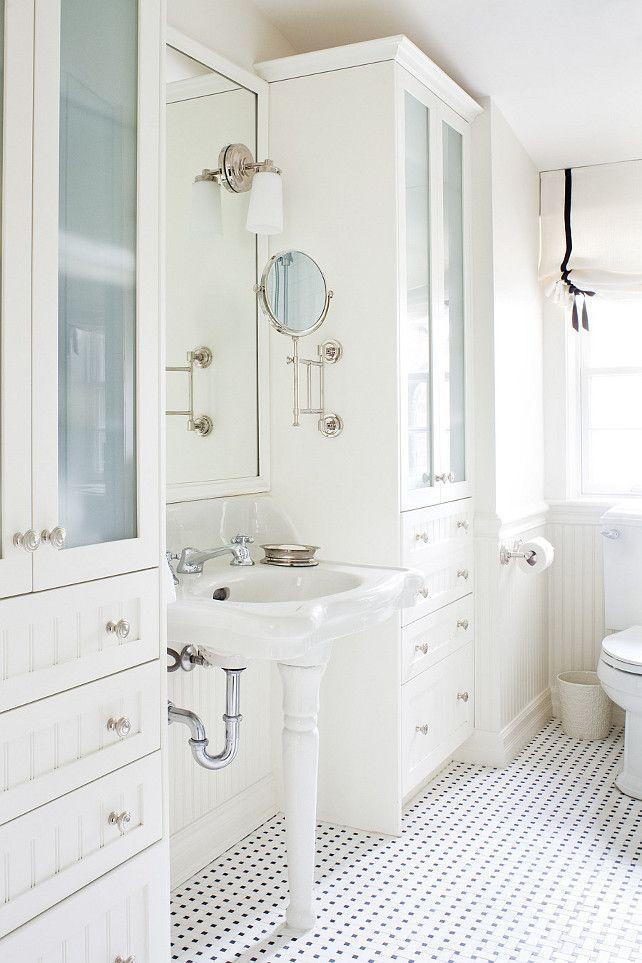 Bathroom Beadboard Cabinet White Beadboardcabinet Whitebeadboardcabinet Anne Hepfer Designs