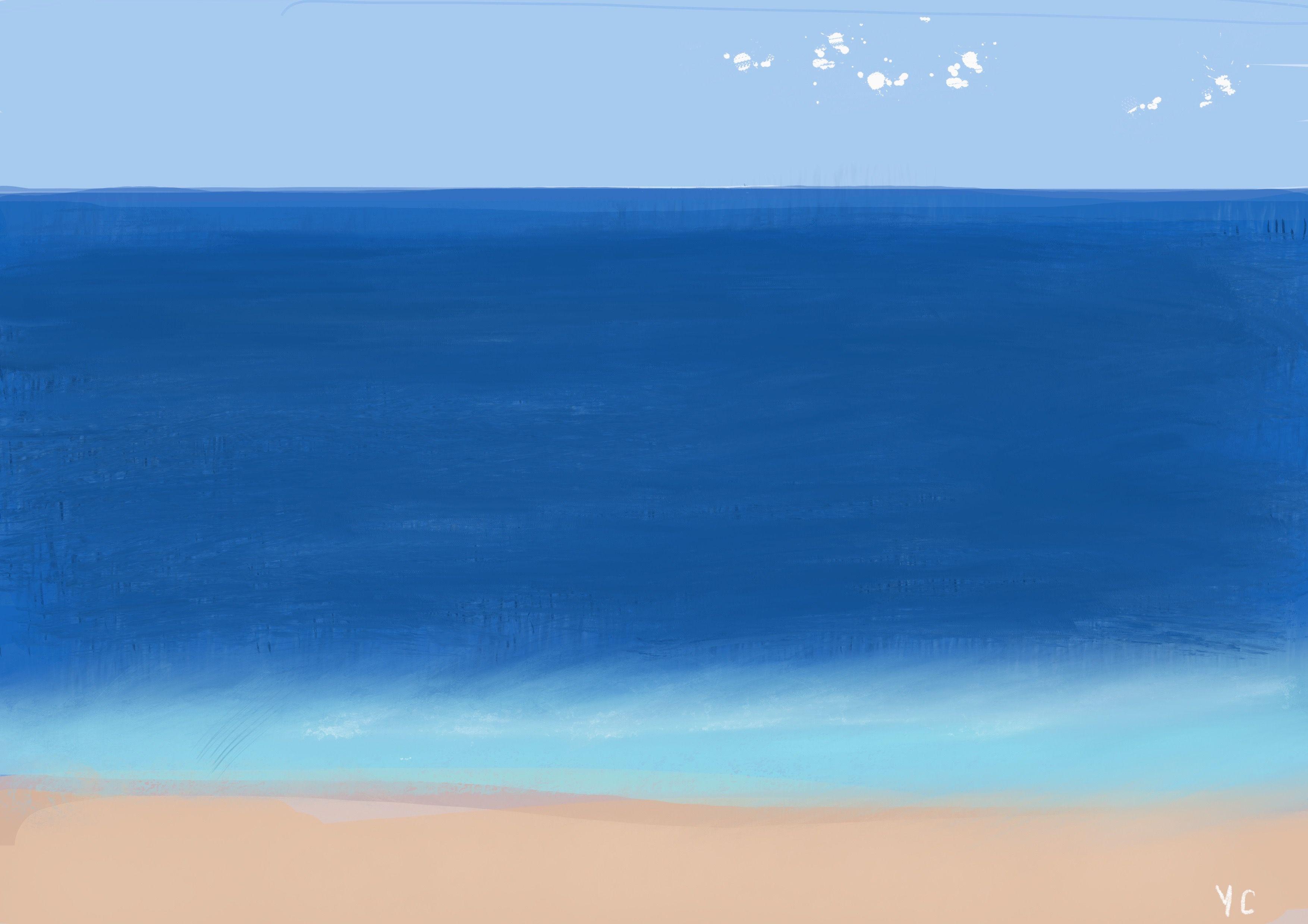 Mit Procreate Pencil Und Fingerspitze Das Meer Yuksel Cavlak Germany Spitze Finger