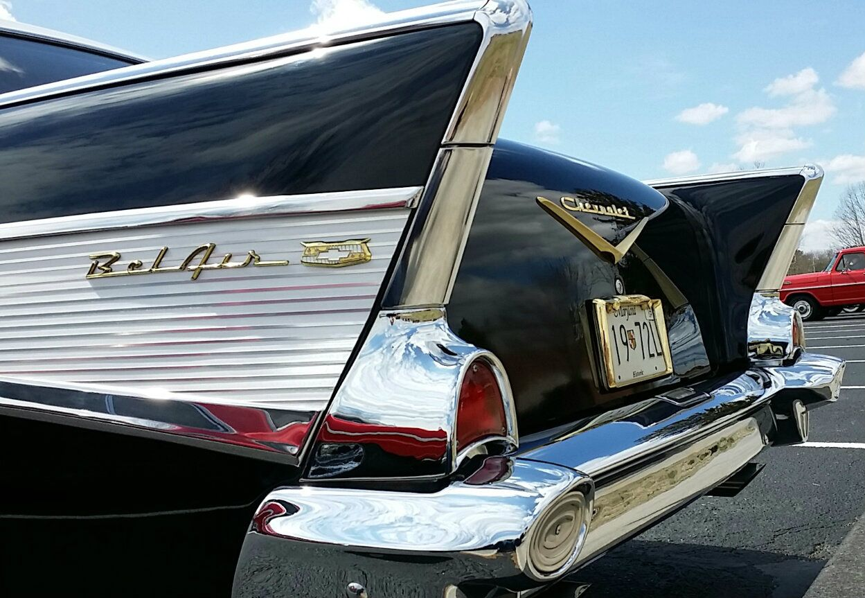 Tail Fin Love On A Chevy Belair Classic Cars Vintage Lovely Car Cool Cars