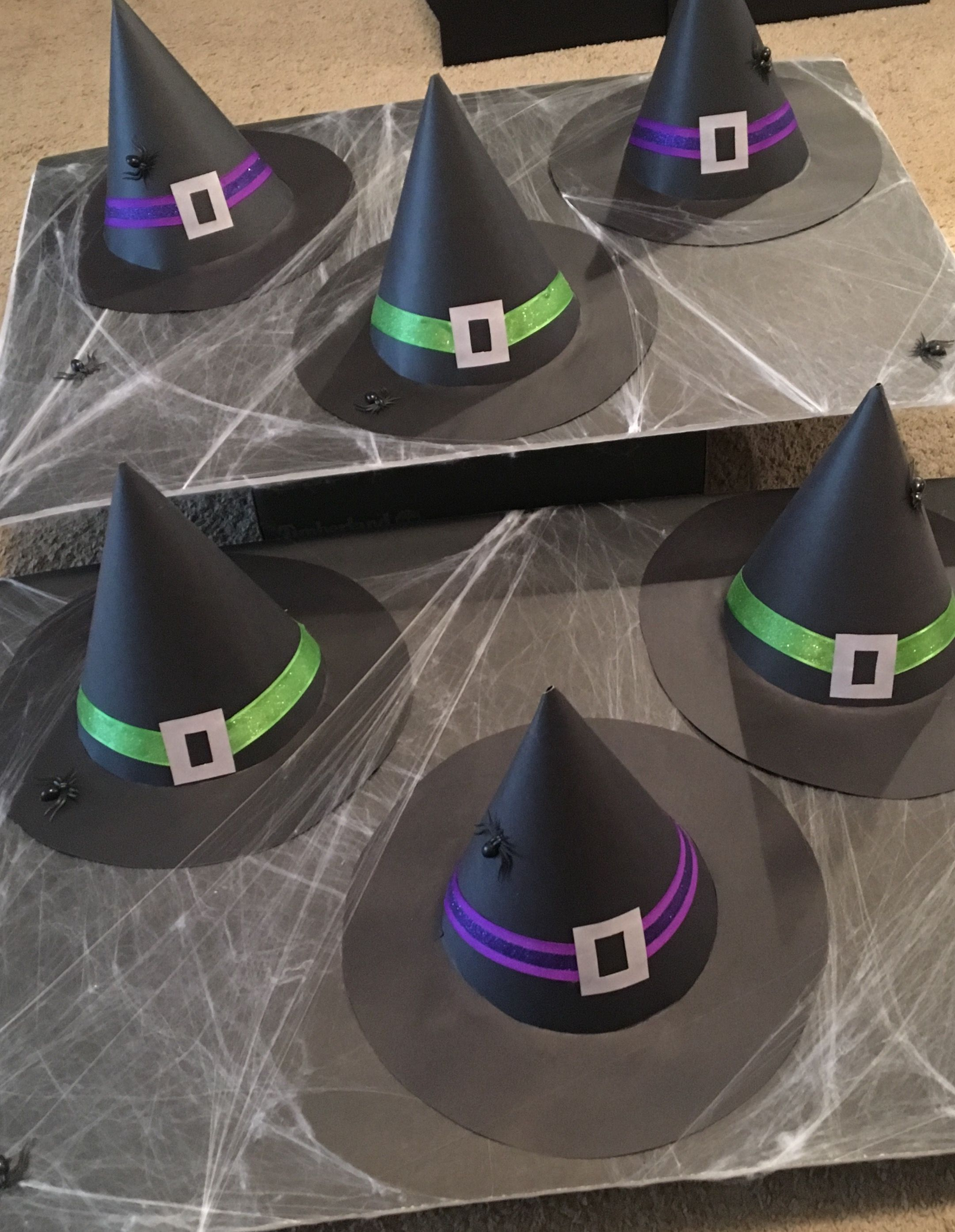 Witch Hat Ring Toss Made This For The Halloween Party Kindergarten Halloween Party Halloween Class Party Classroom Halloween Party