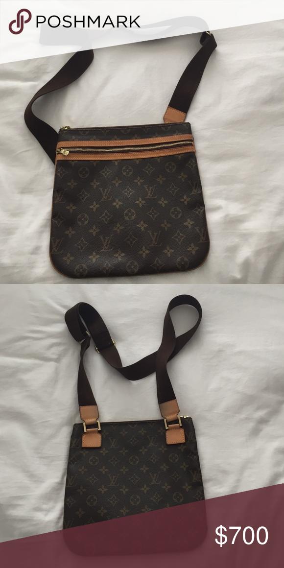 AUTHENTIC Louis Vuitton Monogram Canvas Crossbody Louis Vuitton Monogram Canvas Crossbody Bag Louis Vuitton Bags Crossbody Bags