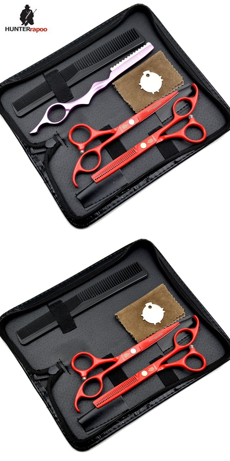 Hairdresser Supplies 5 Scissors Hair Professional Set Kit Barber For Cut Shears Ker