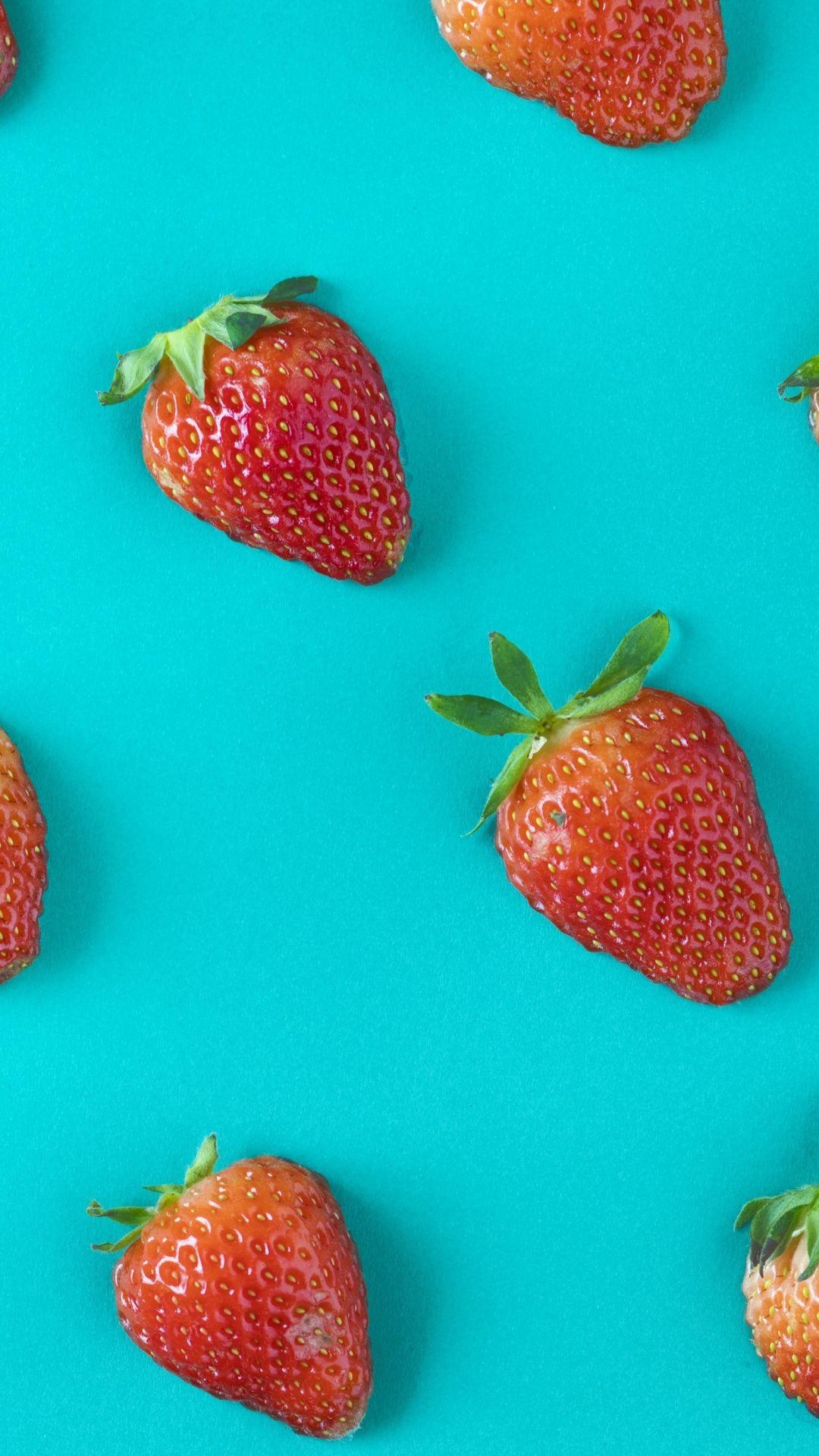 Strawberries Fruits Arranged 1080x1920 Wallpaper Fruit Wallpaper Wallpaper Free Hd Wallpapers