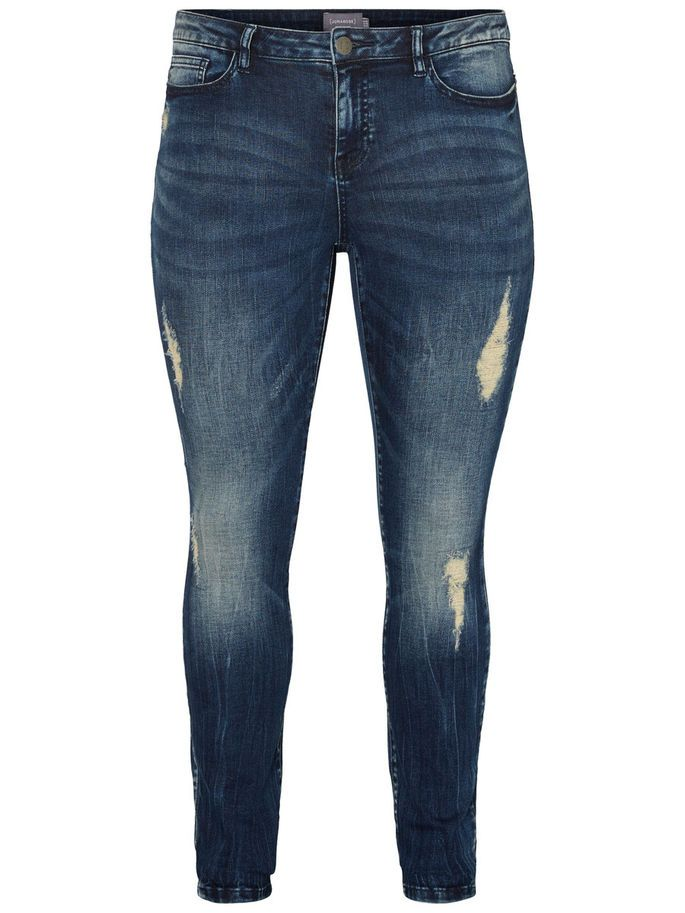 Slim ripped jeans from JUNAROSE. Style with a pretty lace top for a raw/feminine look.