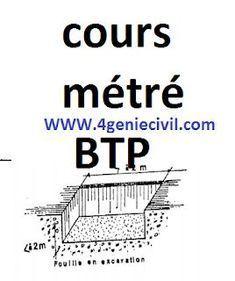 Cours et exercices corrigées en métré BTP I. cours métré