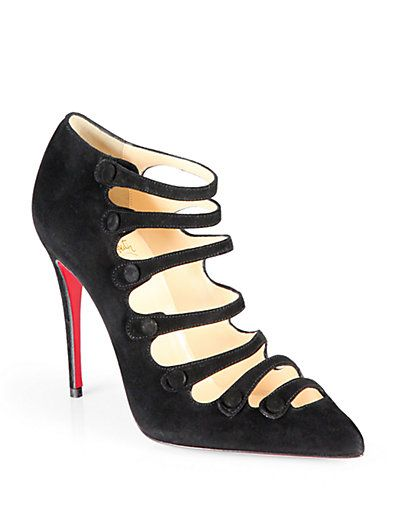 Christian Louboutin - Viennana Strappy Suede Ankle Boots