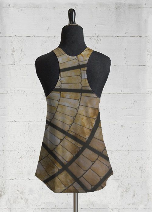 Printed Racerback Top - geometric squares by VIDA VIDA Clearance Manchester Great Sale ghnB8UDs
