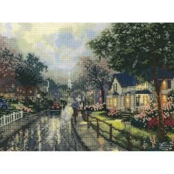 @Overstock - CANDAMAR DESIGNS-Counted Cross Stitch: Thomas Kinkade.  Candamar brings you special kits inspired by one of the best known artists of our time: Thomas Kinkade.  Known as The Master Of Light it's no wonder his work is so popular.http://www.overstock.com/Crafts-Sewing/Thomas-Kinkade-Hometown-Memories-Counted-Cross-Stitch-Kit/6754517/product.html?CID=214117 $22.99
