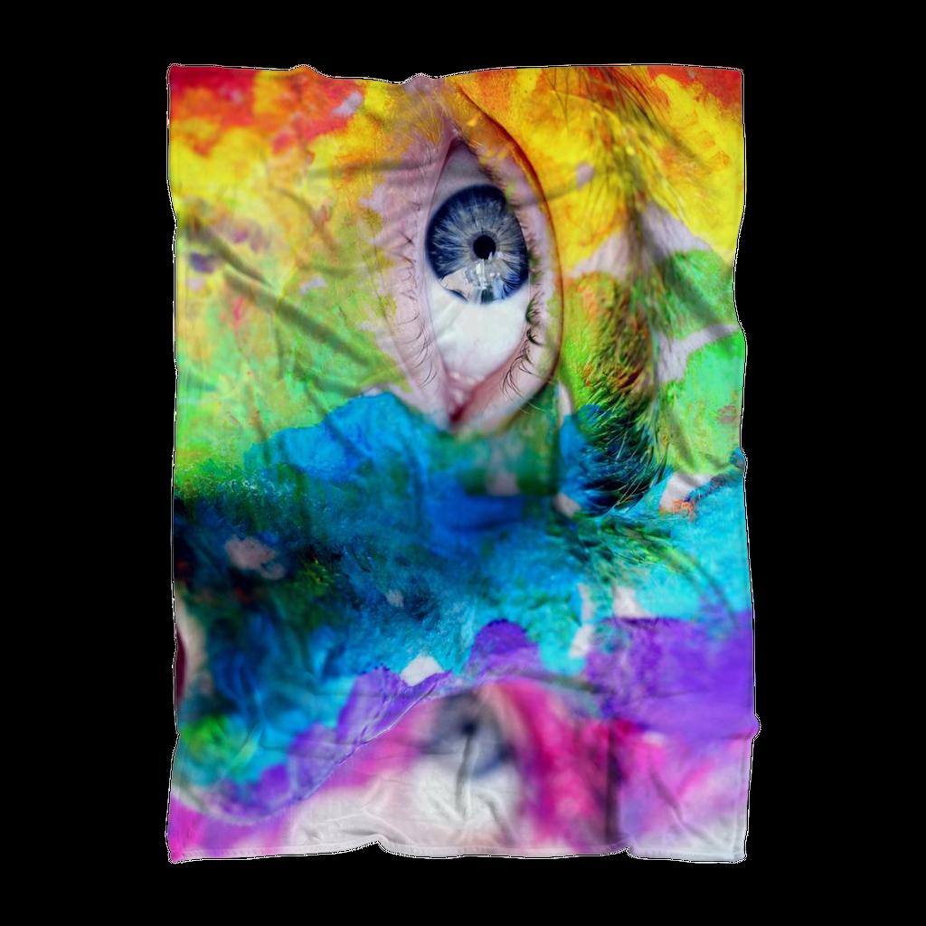 Overall print fleece blanket pride eyes products pinterest