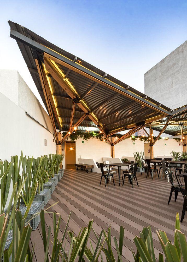 Galeria De Terraza Timberland A 001 Taller De Arquitectura 8 Apartments Exterior Colonial Exterior Cafe Exterior