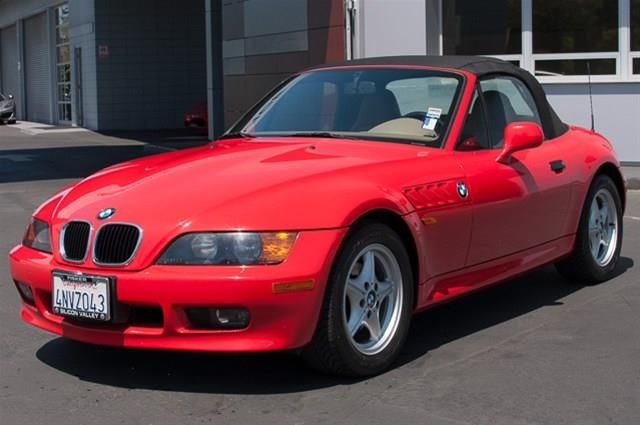 1997 bmw z3 1 9 1 9l roadster convertible 2 doors bright red for sale in palo alto ca http. Black Bedroom Furniture Sets. Home Design Ideas