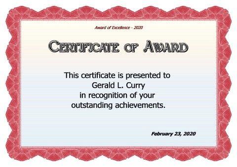 Award Certificate Design Template Certificates Pinterest Free