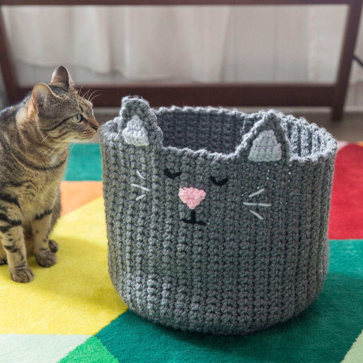 Red Heart Kitty Toy Basket Yarnspirations Toy Basket Cat Toys