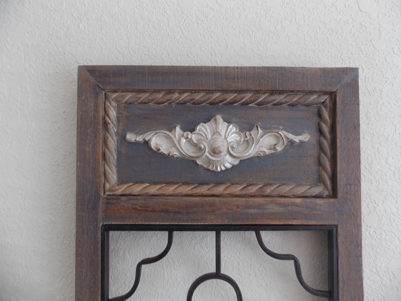 Metal art panels set of wood framed faux hand painted wood