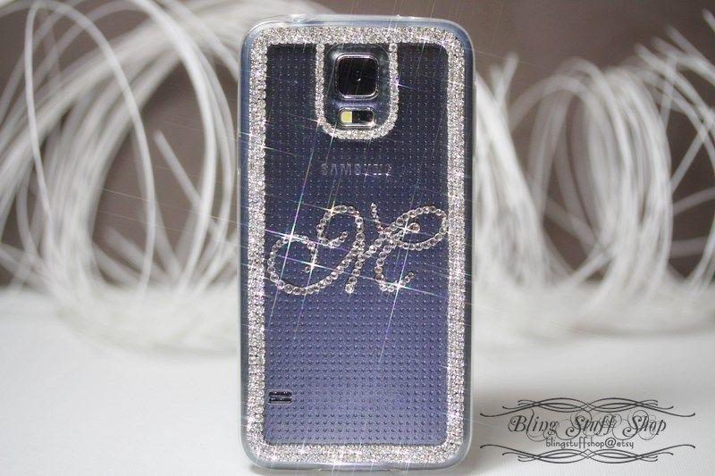 Samsung Galaxy S5 Case W Customized Initial M With Swarovski Elements Crystal Unbrandedgeneric Galaxy S5 Case Samsung S5 Case Samsung Galaxy S5