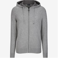 Photo of Strick-Hoodie Libo in Grau meliert Joop