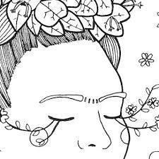 Resultado De Imagen Para Frida Kahlo Dibujos Para Pintar