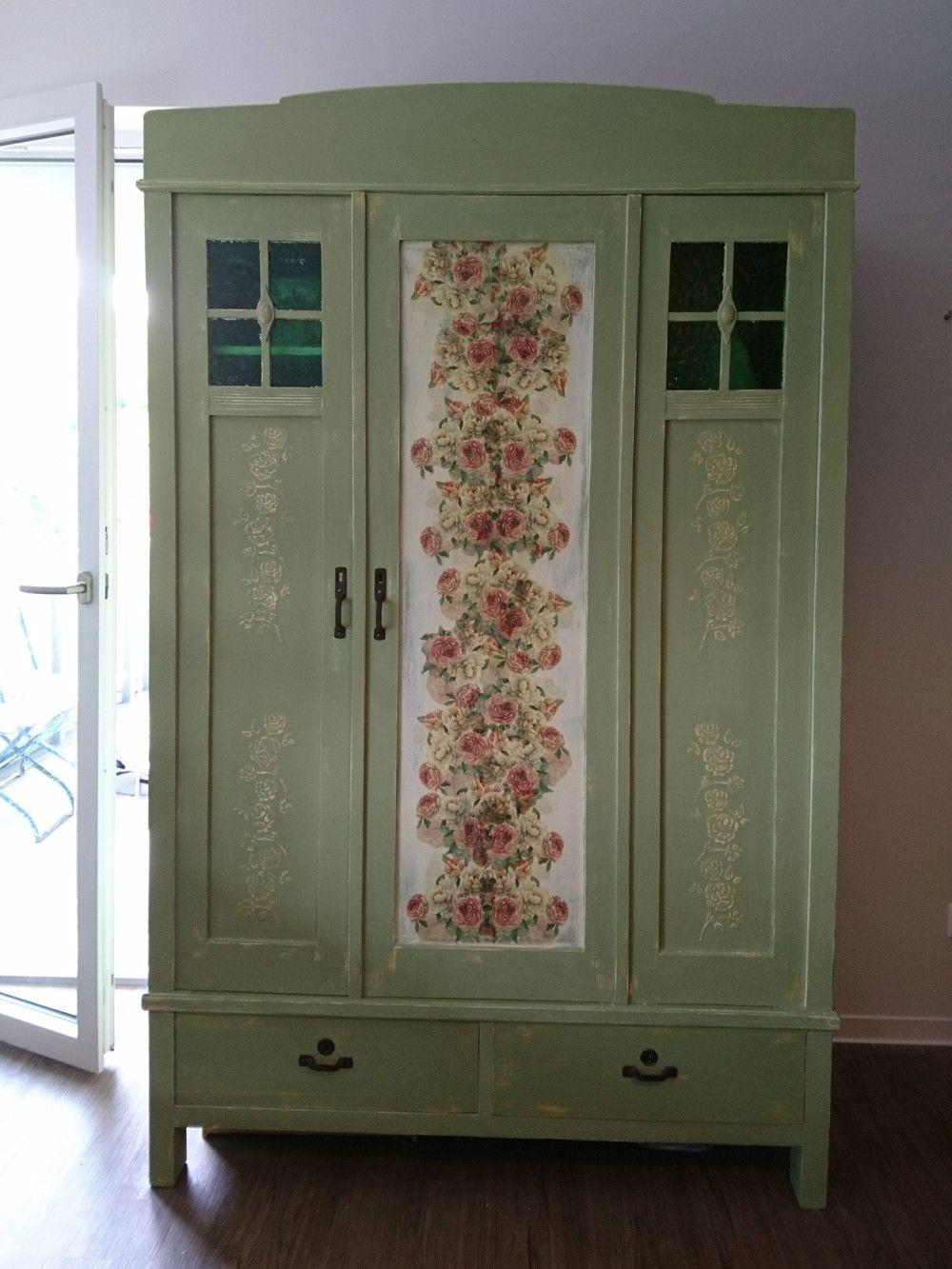 kleiderschr nke shabby chic kleiderschrank schrank 100. Black Bedroom Furniture Sets. Home Design Ideas