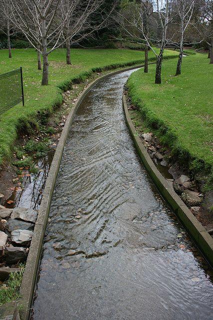 Water Path In Adelaide Botanic Gardens Yard Garden