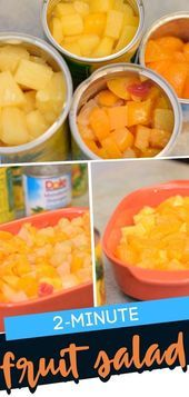 Photo of 2 Minute Fruit Salad A favorite side dish or dessert, this fruit