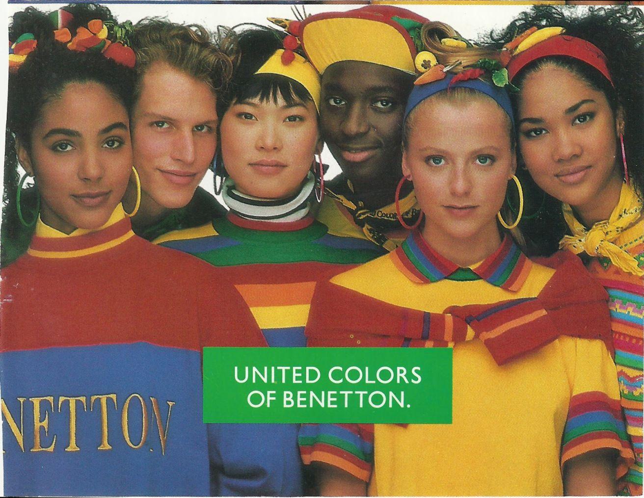 Benetton Predominantly Primary Color Scheme The Conceptual Nature Of This Color Scheme Lends