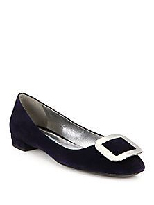 Prada Buckle Logo Suede Flats buy cheap geniue stockist cheap in China free shipping classic outlet huge surprise t0fOpD